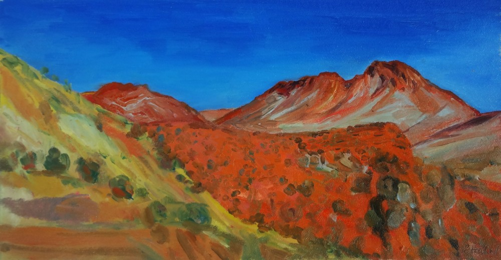Arkaroola Oil Sketch 5 by