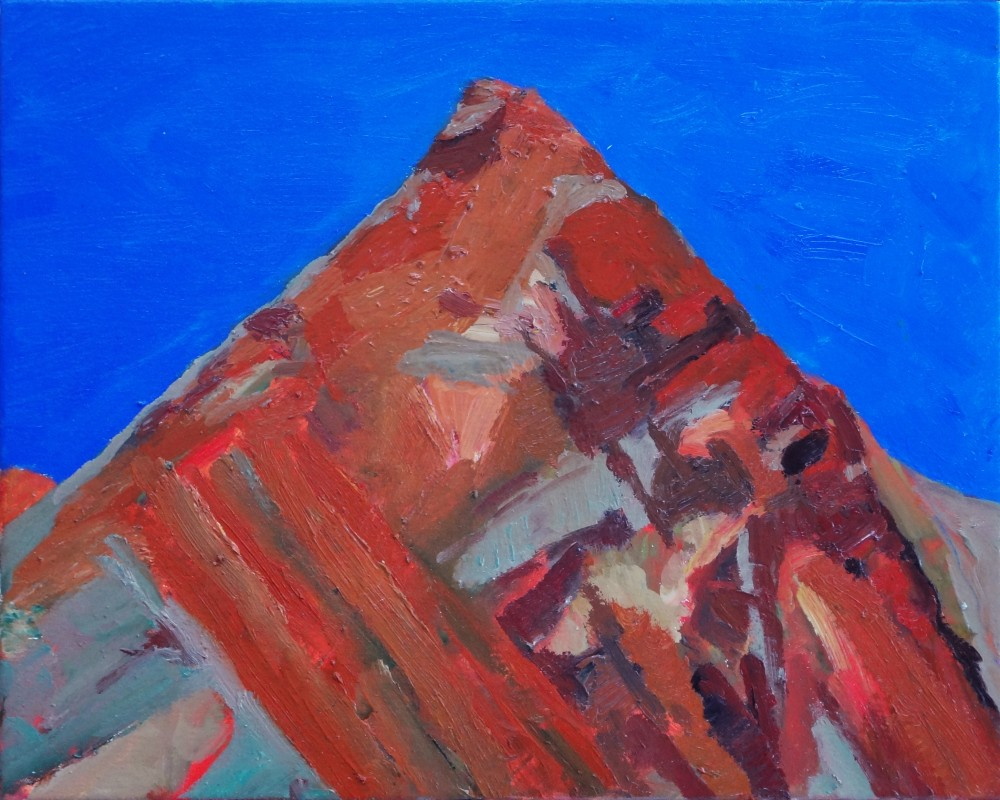 Arkaroola Griselda Hill Oil Sketch by