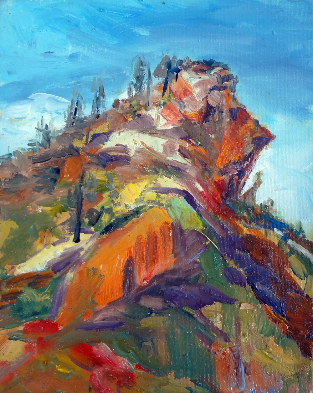 Arkaroola Unnamed Hill Oil Sketch by