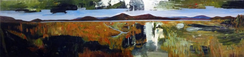Tourism Cairns painting 3, Lake Mitchell by