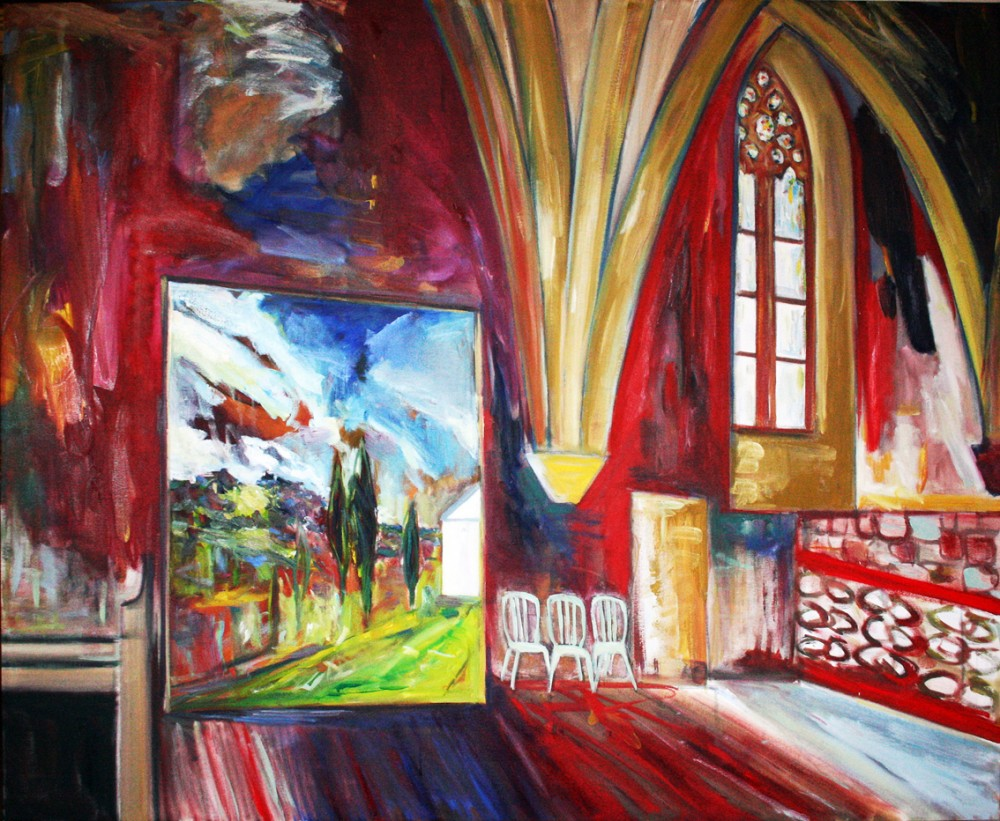 A Large Oil Painting of a Tasmanian Landscape Discovered in the attic of an  Abbey in South West France by Robert Habel